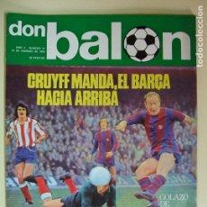 Coleccionismo deportivo: REVISTA DON BALÓN Nº 21 AÑO 1976 - CRUYFF , BARCELONA , BARÇA , CAMACHO , MORETE. Lote 61679436