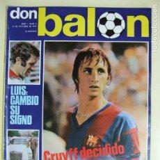 Coleccionismo deportivo: REVISTA DON BALÓN Nº 3 AÑO 1975 - CRUYFF , BARCELONA , BARÇA , LUIS ARAGONÉS , PERICO. Lote 61679736