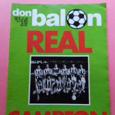 Coleccionismo deportivo: REVISTA DON BALON Nº 290 REAL SOCIEDAD CAMPEON DE LIGA 80/81 - ESPECIAL 1980/1981 ARKONADA. Lote 61691096