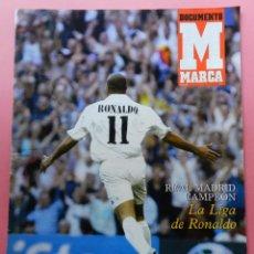 Coleccionismo deportivo: REVISTA SUPLEMENTO ESPECIAL DIARIO MARCA REAL MADRID CAMPEON DE LIGA 2002/2003 RONALDO 02-03 POSTER. Lote 61693344