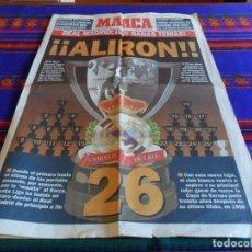 Coleccionismo deportivo: MARCA SUPLEMENTO ALIRÓN REAL MADRID CAMPEÓN DE LIGA 1994 1995 94 95. LIGA Nº 26.. Lote 61818596