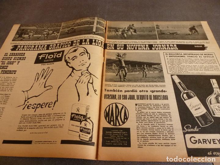 Coleccionismo deportivo: MARCA(24-10-61)ESPAÑOL 2 R.SOCIEDAD 2,PLUS ULTRA GOLEA CULTURAL LEONESA,COPA FERIAS ESPAÑA,MONTJUICH - Foto 2 - 61953980