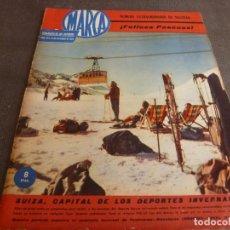 Coleccionismo deportivo: MARCA(19-12-61)SUIZA CAPITAL DEPORTE INVIERNO,LIGA 1ª DIV.,HOCKEY PATINES ESPAÑA,VAN LOOY,ANQUETIL.. Lote 61956648