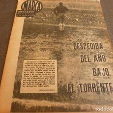 Coleccionismo deportivo: MARCA(2-1-62)R.MADRID 6 RACING 0,PEÑAROL CAMPEÓN INTERCONTINENTAL,JUAN CARLOS LORENZO,IGNACIO ZOCO.. Lote 62061960