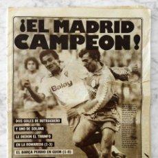 Collectionnisme sportif: DIARIO AS - Nº 6122 - 15/06/1987 - REAL MADRID CAMPEÓN DE LIGA. Lote 62114952