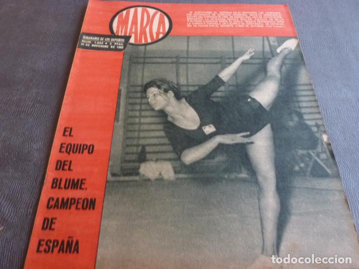MARCA(21-11-62)RUMANIA-ESPAÑA SALVAMOS ELIMINATORIA,JORNADA COPA,LUIS DEL SOL,SILVEIRA(BARÇA)BLUME. (Coleccionismo Deportivo - Revistas y Periódicos - Marca)