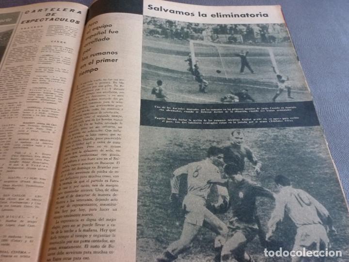 Coleccionismo deportivo: MARCA(21-11-62)RUMANIA-ESPAÑA SALVAMOS ELIMINATORIA,JORNADA COPA,LUIS DEL SOL,SILVEIRA(BARÇA)BLUME. - Foto 2 - 62138320