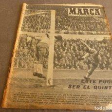 Coleccionismo deportivo: MARCA(17-1-61)AT.MADRID 4 ZARAGOZA 0,JOHN CHARLES NO AL MADRID,GRIFFA,BELLA ALEJANDRA,RIVIERE,JAPÓN.. Lote 62217168