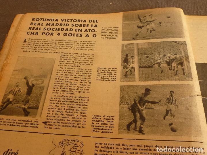 Coleccionismo deportivo: MARCA(17-1-61)AT.MADRID 4 ZARAGOZA 0,JOHN CHARLES NO AL MADRID,GRIFFA,BELLA ALEJANDRA,RIVIERE,JAPÓN. - Foto 5 - 62217168