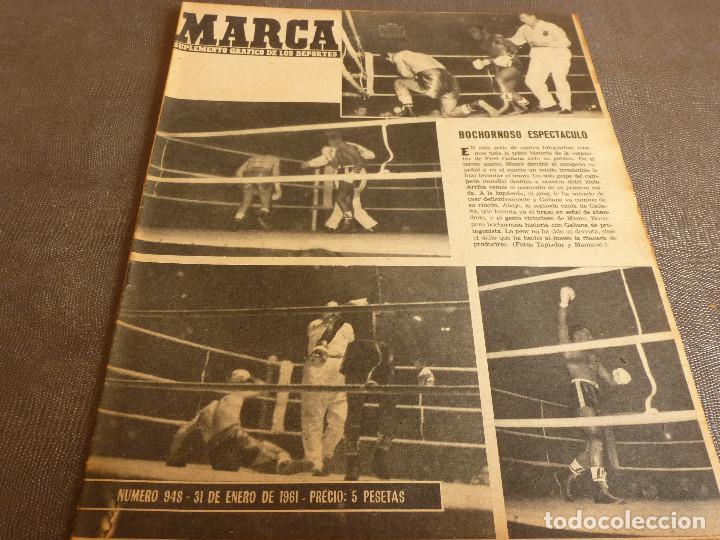 MARCA(31-1-61)R.MADRID 9 U.ESPAÑOLA CHILE 0,PROX. VASCO GAMA-R.MADRID EN MARACANÁ,AT.MADRID,LASARTE. (Coleccionismo Deportivo - Revistas y Periódicos - Marca)