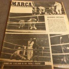 Coleccionismo deportivo: MARCA(31-1-61)R.MADRID 9 U.ESPAÑOLA CHILE 0,PROX. VASCO GAMA-R.MADRID EN MARACANÁ,AT.MADRID,LASARTE.. Lote 62217856