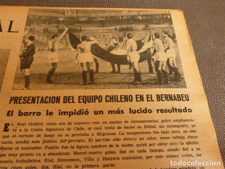 Coleccionismo deportivo: MARCA(31-1-61)R.MADRID 9 U.ESPAÑOLA CHILE 0,PROX. VASCO GAMA-R.MADRID EN MARACANÁ,AT.MADRID,LASARTE. - Foto 6 - 62217856