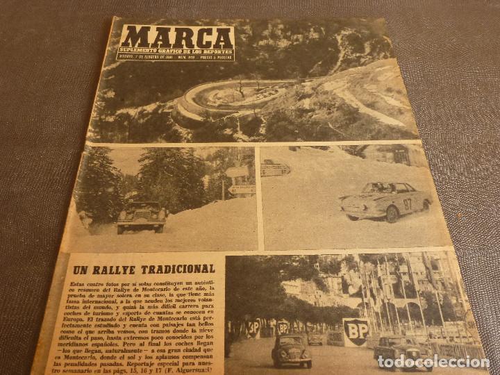 MARCA(7-2-61)RALLY MONTECARLO,LA LIGA,PLUS ULTRA VIVERO FUTBOLISTAS,FUTBOL INGLÈS,HIPICA. (Coleccionismo Deportivo - Revistas y Periódicos - Marca)