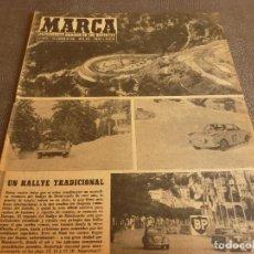 Coleccionismo deportivo: MARCA(7-2-61)RALLY MONTECARLO,LA LIGA,PLUS ULTRA VIVERO FUTBOLISTAS,FUTBOL INGLÈS,HIPICA.. Lote 62218024