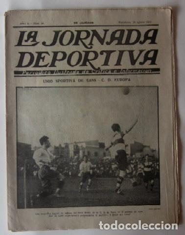 JORNADA DEPORTIVA - FESTIVALES DEPORTIVOS EN SANS... (Coleccionismo Deportivo - Revistas y Periódicos - La Jornada Deportiva)