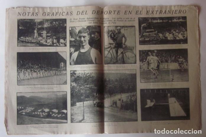 Coleccionismo deportivo: LA JORNADA DEPORTIVA - OLIMPIADA FEMENINA EN PARIS, GRAN PREMIO DE BELGICA, MATCH INGLATERRA FRANCIA - Foto 2 - 62271036