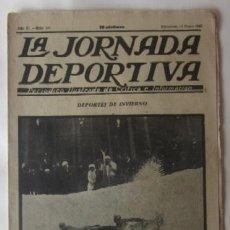 Collectionnisme sportif: LA JORNADA DEPORTIVA - DEPORTES DE INVIERNO, EL MATCH LISBOA-GALICIA EN VIGO, BELGICA-ESPAÑA.... Lote 62271628
