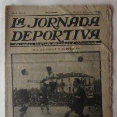 Collectionnisme sportif: LA JORNADA DEPORTIVA - U.S. SANS-F.C. BARCELONA, GALICIA-CASTILLA, GUIPUZCOA-CATALUÑA.... Lote 62272040