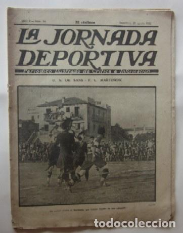 LA JORNADA DEPORTIVA - U.S. SANS-F.C. MARTINENC, EL CICLISTA MIGUEL BOVER... (Coleccionismo Deportivo - Revistas y Periódicos - La Jornada Deportiva)