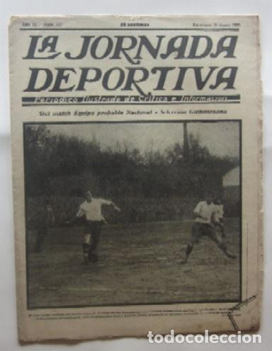 LA JORNADA DEPORTIVA - MATCH ESPAÑA-FRANCIA, VALENCIA-RACING DE SANTANDER, SELECCION DE GUIPUZCOA... (Coleccionismo Deportivo - Revistas y Periódicos - La Jornada Deportiva)