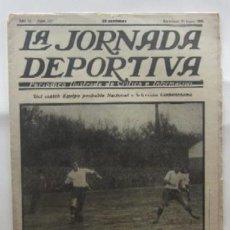 Coleccionismo deportivo: LA JORNADA DEPORTIVA - MATCH ESPAÑA-FRANCIA, VALENCIA-RACING DE SANTANDER, SELECCION DE GUIPUZCOA.... Lote 62274824