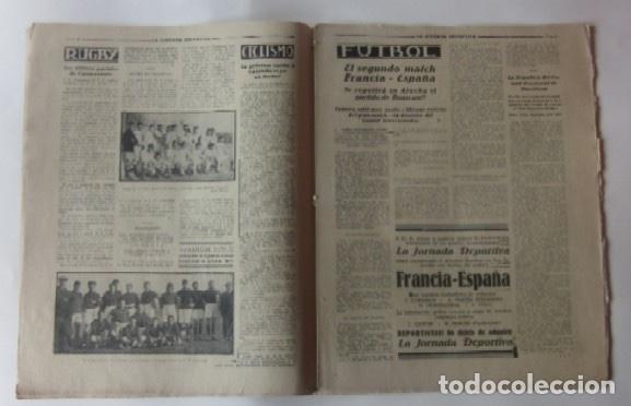 Coleccionismo deportivo: LA JORNADA DEPORTIVA - MATCH ESPAÑA-FRANCIA, VALENCIA-RACING DE SANTANDER, SELECCION DE GUIPUZCOA... - Foto 2 - 62274824