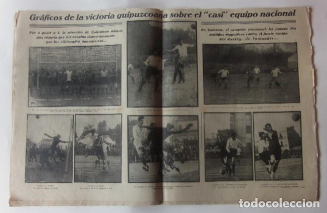 Coleccionismo deportivo: LA JORNADA DEPORTIVA - MATCH ESPAÑA-FRANCIA, VALENCIA-RACING DE SANTANDER, SELECCION DE GUIPUZCOA... - Foto 3 - 62274824