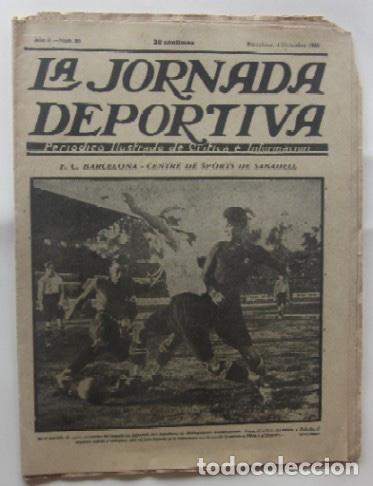 LA JORNADA DEPORTIVA - BARCELONA-SABADELL, ESPAÑOL-EUROPA, CAMPEONATOS DE ATLETISMO EN BARCELONA... (Coleccionismo Deportivo - Revistas y Periódicos - La Jornada Deportiva)
