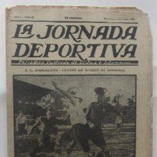 Coleccionismo deportivo: LA JORNADA DEPORTIVA - BARCELONA-SABADELL, ESPAÑOL-EUROPA, CAMPEONATOS DE ATLETISMO EN BARCELONA.... Lote 62275248