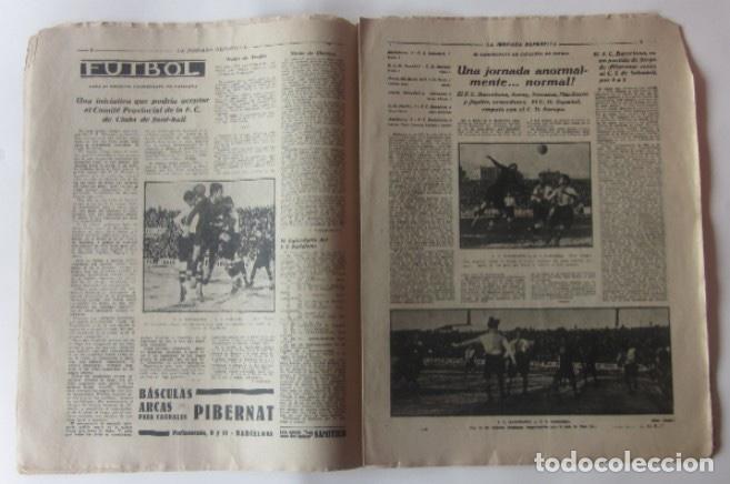 Coleccionismo deportivo: LA JORNADA DEPORTIVA - BARCELONA-SABADELL, ESPAÑOL-EUROPA, CAMPEONATOS DE ATLETISMO EN BARCELONA... - Foto 2 - 62275248