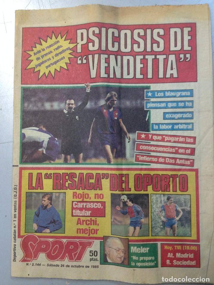 DEPORTIVO CATALAN SPORT 26 OCTUBRE 1985 (M) (Coleccionismo Deportivo - Revistas y Periódicos - Sport)