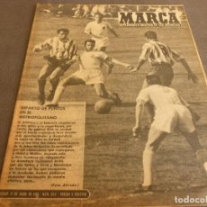 Coleccionismo deportivo: MARCA(11-4-61)JORNADA LIGA,PROX.SEMIF.COPA EUROPA,SANTOS(BRASIL) VS BOCA Y RACING,CASADO Y RIVILLA.. Lote 62334324