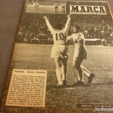 Coleccionismo deportivo: MARCA(20-6-61)COPA R.MADRID 7 BETIS 1 !!TRIPLETE PUSKAS!!PROX.FINAL INTERCONTINENTAL BENFICA-PEÑAROL. Lote 62340568