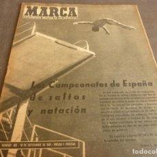Coleccionismo deportivo: MARCA(19-9-61)INDEPENDIENTE 4 RACING 0 EN ARGENTINA,JORNADA LIGA,ESTA SEMANA DECISIVA EN COPA EUROPA. Lote 62344448
