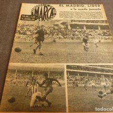 Coleccionismo deportivo: MARCA(26-9-61)COPA EUROPA R.MADRID 5 VASAS1,EQUIPOS CATALANES EN COPA FERIAS,JORNADA LIGA,CICLISMO.. Lote 62346016