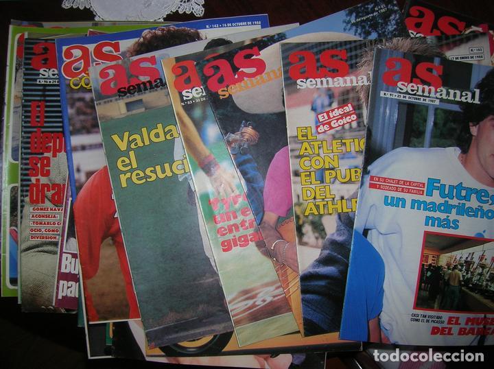 23 REVISTAS SUPLEMENTO AS SEMANAL. FÚTBOL VINTAGE. AÑOS 1986 - 1987 Y 1988 (Coleccionismo Deportivo - Revistas y Periódicos - As)