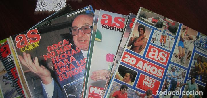 Coleccionismo deportivo: 23 REVISTAS SUPLEMENTO AS SEMANAL. FÚTBOL VINTAGE. AÑOS 1986 - 1987 Y 1988 - Foto 2 - 62593252