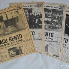 Coleccionismo deportivo: PACO GENTO CUENTA SU VIDA - 4 CAPÍTULOS BIOGRAFÍA - DEL DIARIO AS COLOR - MUY ANTIGUO. Lote 62623868