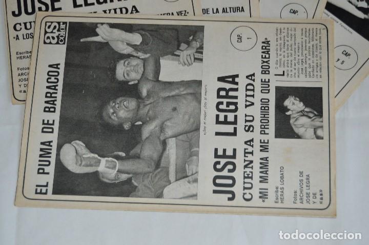 Coleccionismo deportivo: JOSE LEGRA CUENTA SU VIDA - SERIE COMPLETA - 5 CAPÍTULOS - DEL DIARIO AS COLOR - MUY ANTIGUO - Foto 2 - 174230005