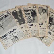 Coleccionismo deportivo: MANOLO SANTANA CUENTA SU VIDA - SERIE COMPLETA - 5 CAPÍTULOS - DEL DIARIO AS COLOR - MUY ANTIGUO. Lote 62624688