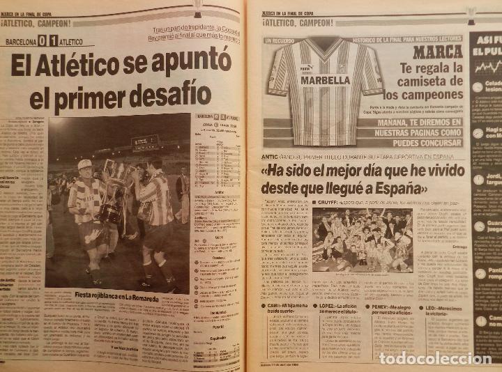 Coleccionismo deportivo: DIARIO MARCA ATLETICO DE MADRID CAMPEON COPA DEL REY 95/96 ATLETI DOBLETE TEMPORADA 1995/1996 - Foto 3 - 62698516