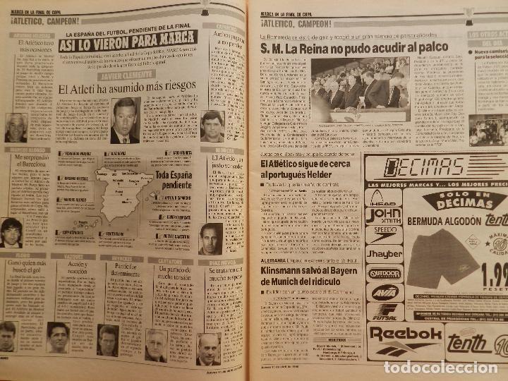 Coleccionismo deportivo: DIARIO MARCA ATLETICO DE MADRID CAMPEON COPA DEL REY 95/96 ATLETI DOBLETE TEMPORADA 1995/1996 - Foto 4 - 62698516