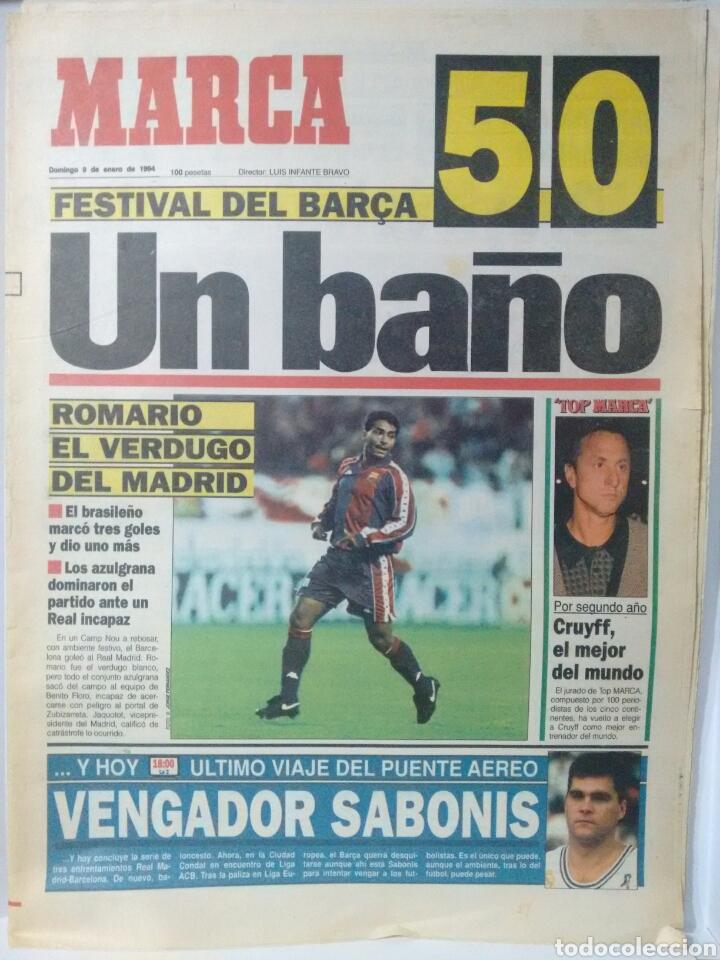 MARCA -UN BAÑO (Coleccionismo Deportivo - Revistas y Periódicos - Marca)