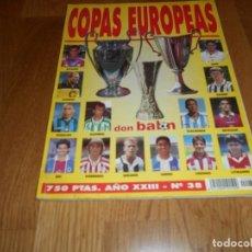 Colecionismo desportivo: EXTRA DON BALON Nº 38: COPAS EUROPEAS, TODOS LOS EQUIPOS DE LA EURO EN POSTER, JUGADOR A JUGADOR. Lote 266236368
