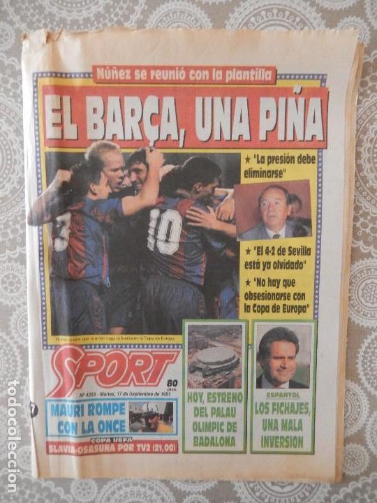 PERIODICO SPORT Nº 4255 (Coleccionismo Deportivo - Revistas y Periódicos - Sport)