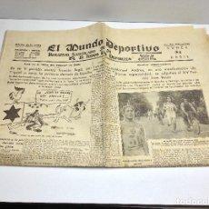 Coleccionismo deportivo: MUNDO DEPORTIVO, 24 DE ABRIL 1933 Nº 3560. Lote 63553132