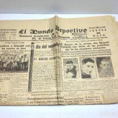 Coleccionismo deportivo: MUNDO DEPORTIVO,30 DE MAYO 1935 Nº 4642. Lote 63553376