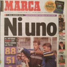 Coleccionismo deportivo: MARCA 25/OCTUBRE/1998 REAL MADRID - RACING PREVIA HIDDINK PORTADA. Lote 64326823