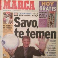 Coleccionismo deportivo: MARCA 16/ENERO/2000 PREVIA ZARAGOZA - BARÇA - SAVO MILOSEVIC. Lote 64327947