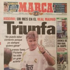 Coleccionismo deportivo: MARCA 16/AGOSTO/1998 HIDDINK PORTADA. Lote 64335931
